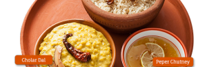 Bengali Polau, Cholar Dal and Peper Chatney